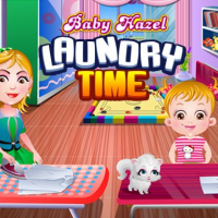 Baby Hazel Laundry Time