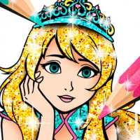 Princess Coloring Book Glitter