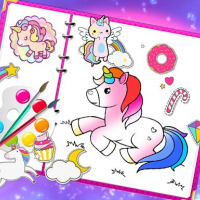 Fabulous Cute Unicorn Coloring Book
