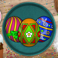 Handmade Easter Eggs Coloring Book