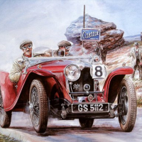 Painting Vintage Cars Jigsaw Puzzle 2